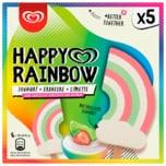 Langnese Happy Rainbow Eis Joghurt Erdbeere Limette 5x90ml