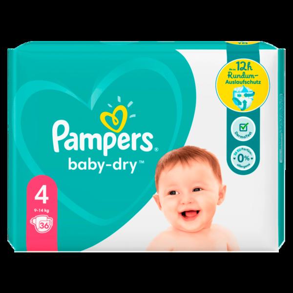 Pampers Windeln Baby Dry Gr.4 9-14kg 36 Stück