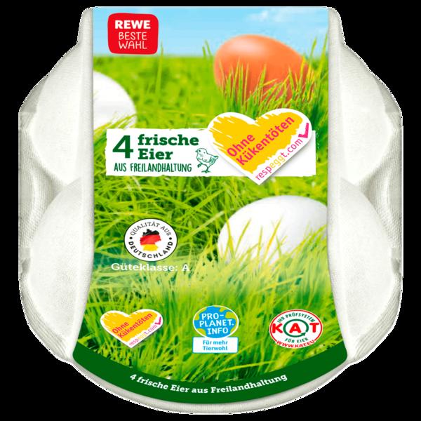 REWE Beste Wahl Eier Freilandhaltung 4 Stück
