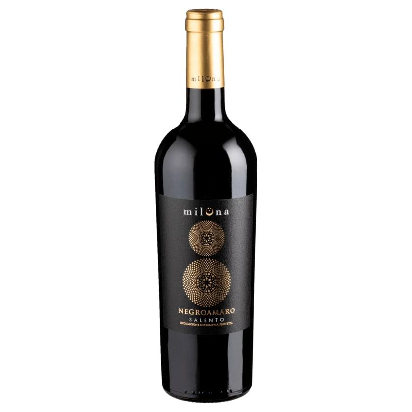 Miluna Rotwein Negroamaro halbtrocken 0,75l