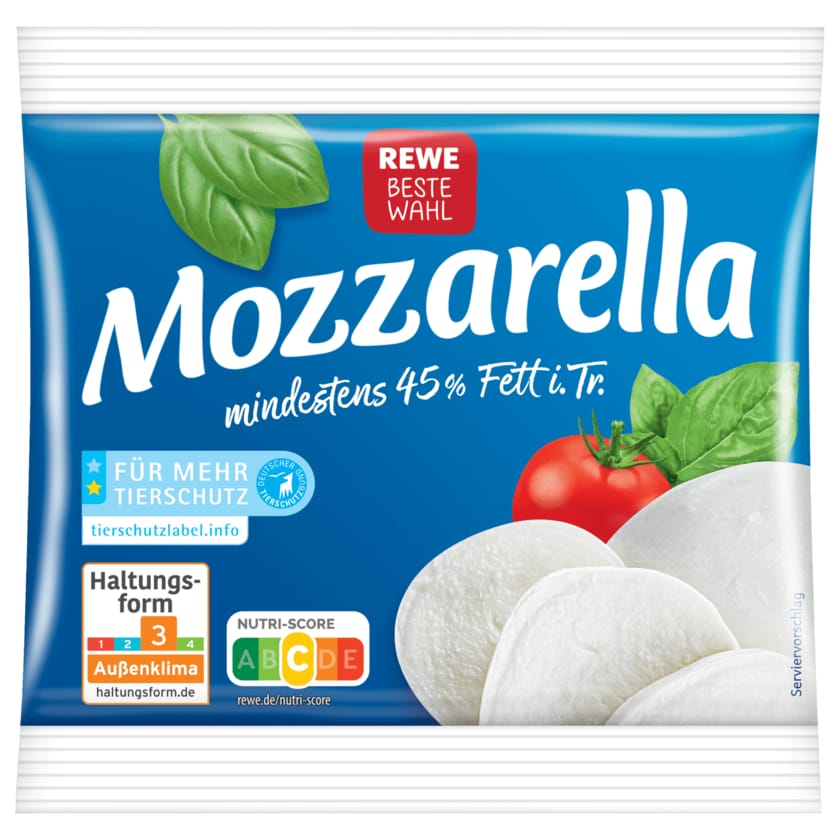 REWE Beste Wahl Mozzarella 125g