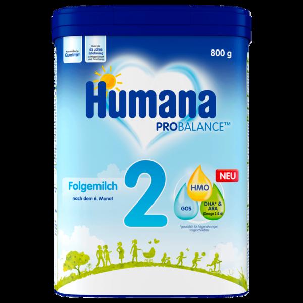 Humana Folgemilch 2 800g