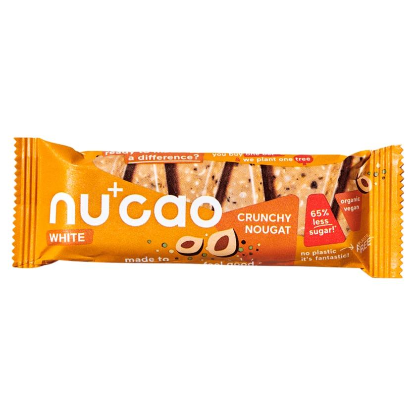 nucao Bio White Crunchy Nougat Riegel vegan 40g