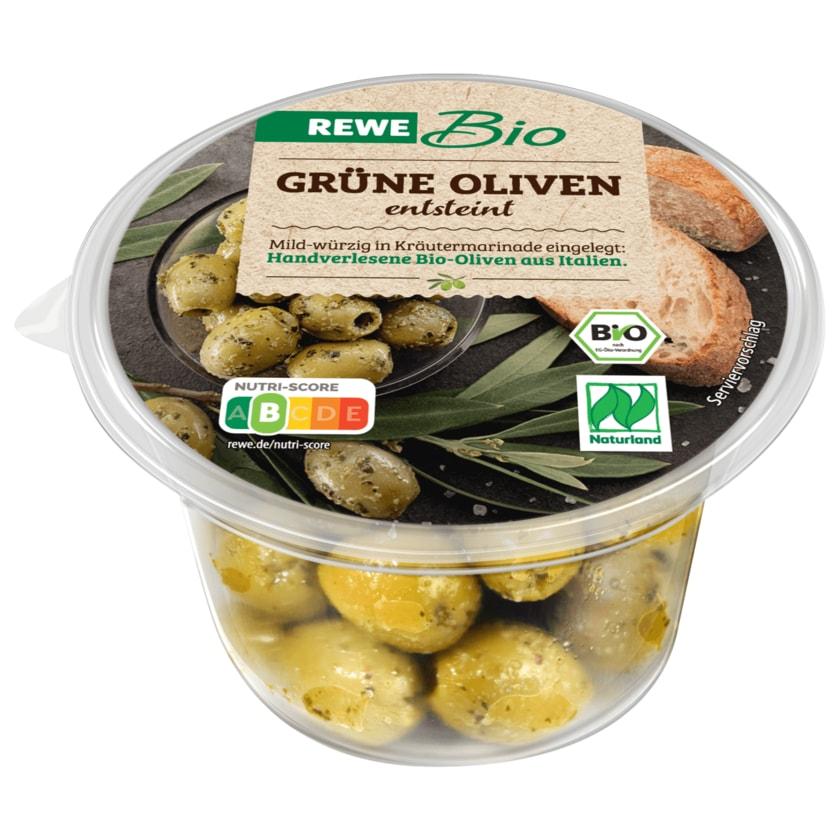 REWE Bio Grüne Oliven entsteint 125g