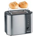 Severin Automatik-Toaster 2589 Edelstahl/Schwarz 800W