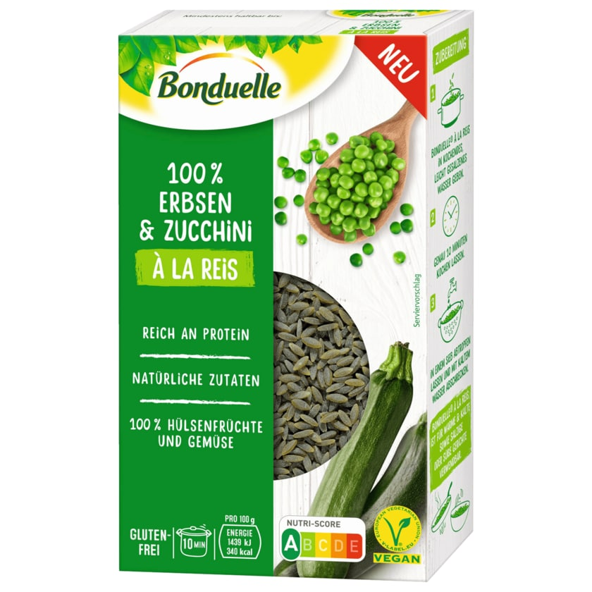 Bonduelle 100% Erbsen & Zucchini à la Reis vegan 240g