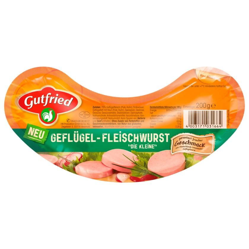 """Gutfried Geflügel-Fleischwurst """"Die Kleine"""" 200g"""