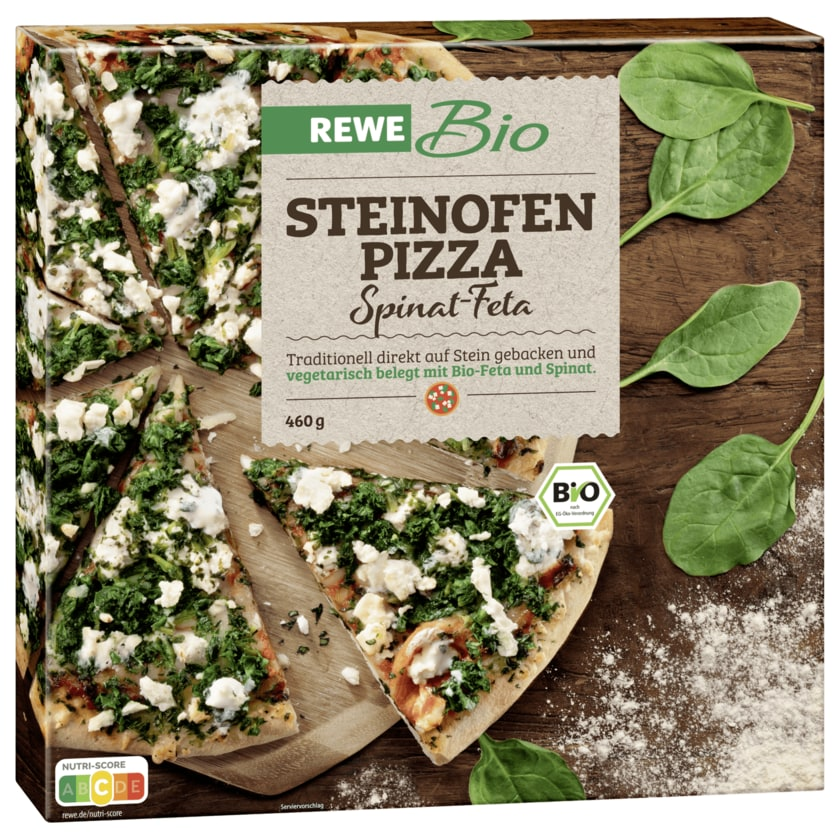 REWE Bio Steinofenpizza Spinat Feta 460g