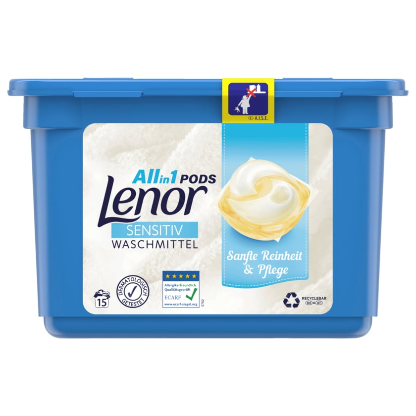 Lenor Vollwaschmittel All-in-1 Pods Sensitiv 379g 15WL