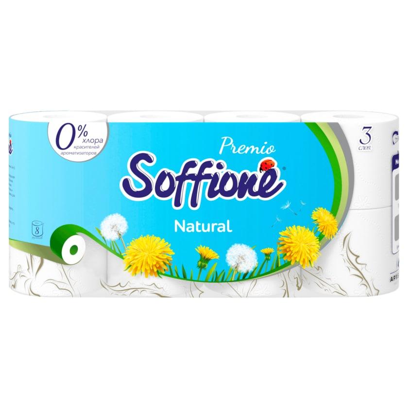 Soffione Premio Toilettenpapier Natural 3-lagig 8x150 Blatt