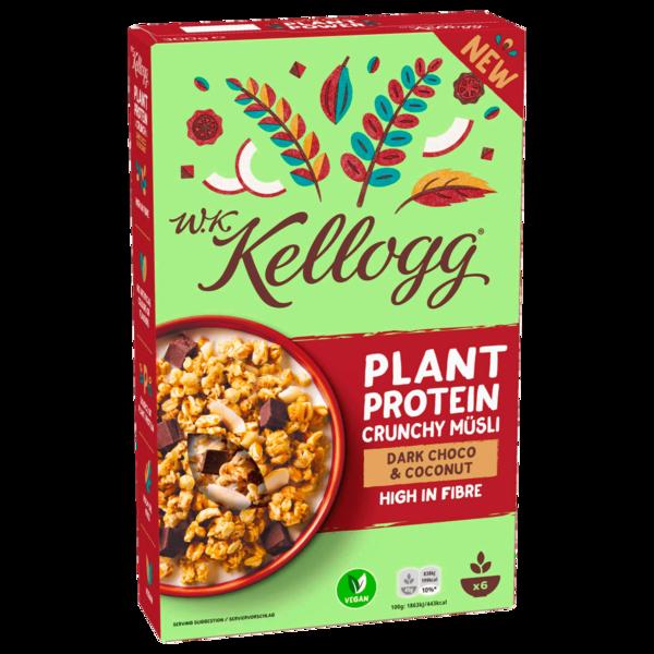 W.K. Kellog Plant Protein Crunchy Müsli Dark Choco & Coconut 300g