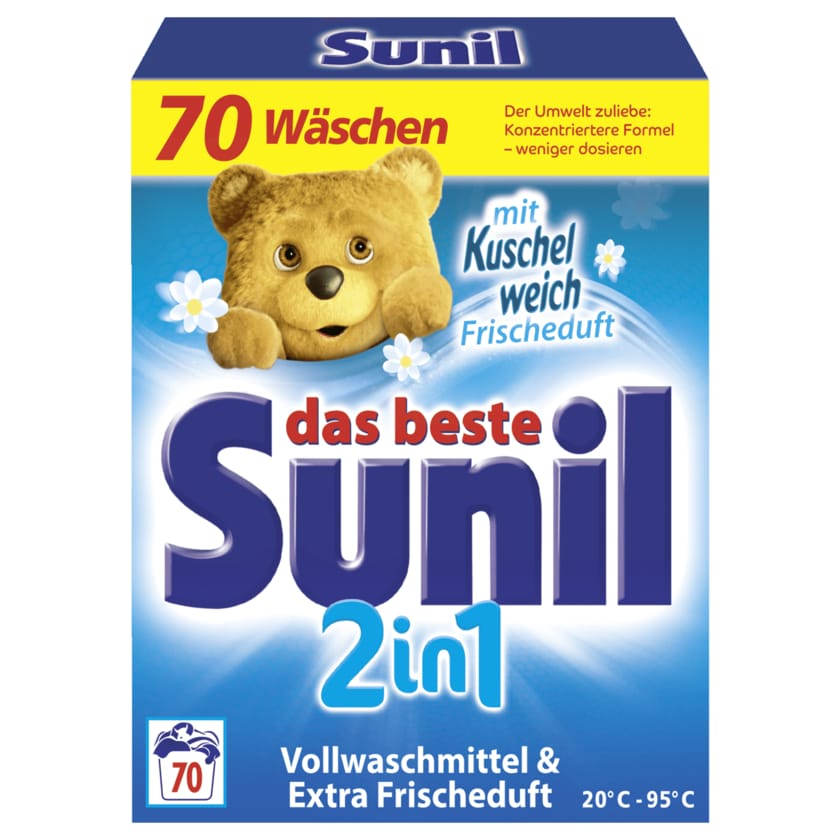 Sunil 2in1 Vollwaschmittel 3,85kg, 70WL