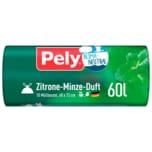Pely Klimaneutral Müllbeutel Zitrone-Minze-Duft 60l, 10 Stück