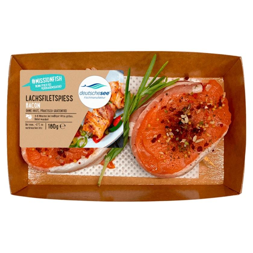 Deutsche See Lachsfiletspiess Bacon 180g