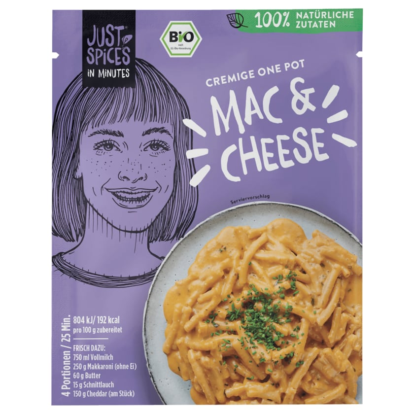 Just Spices Bio Cremige One Pot Mac & Cheese 34g