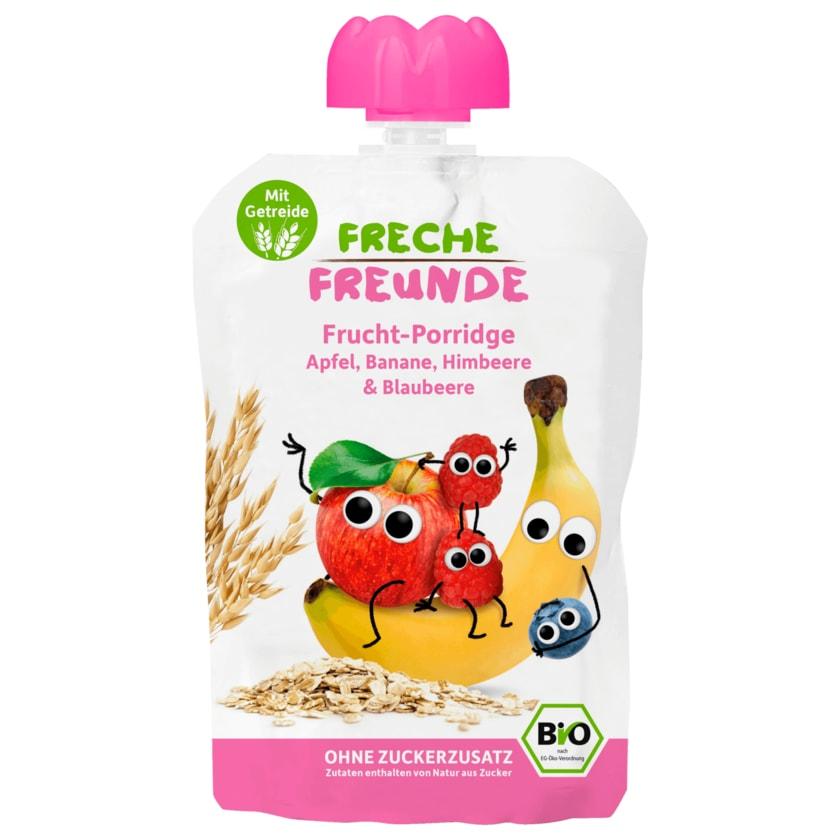 Freche Freunde Bio Frucht-Porridge Apfel, Banane, Himbeere & Blaubeere 100g