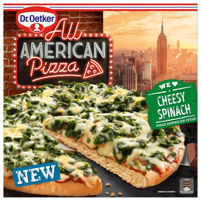 Dr. Oetker All American Pizza Cheesy Spinach 500g
