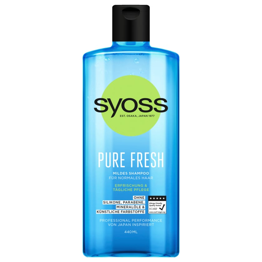 Syoss Shampoo Pure Fresh 440ml