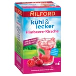Milford Kühl & Lecker Früchtetee Himbeere-Kirsche 50g, 20 Beutel