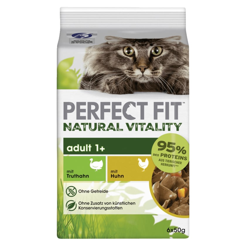 Perfect Fit Natural Vitality Adult 1+ mit Truthan und Huhn 6x50g
