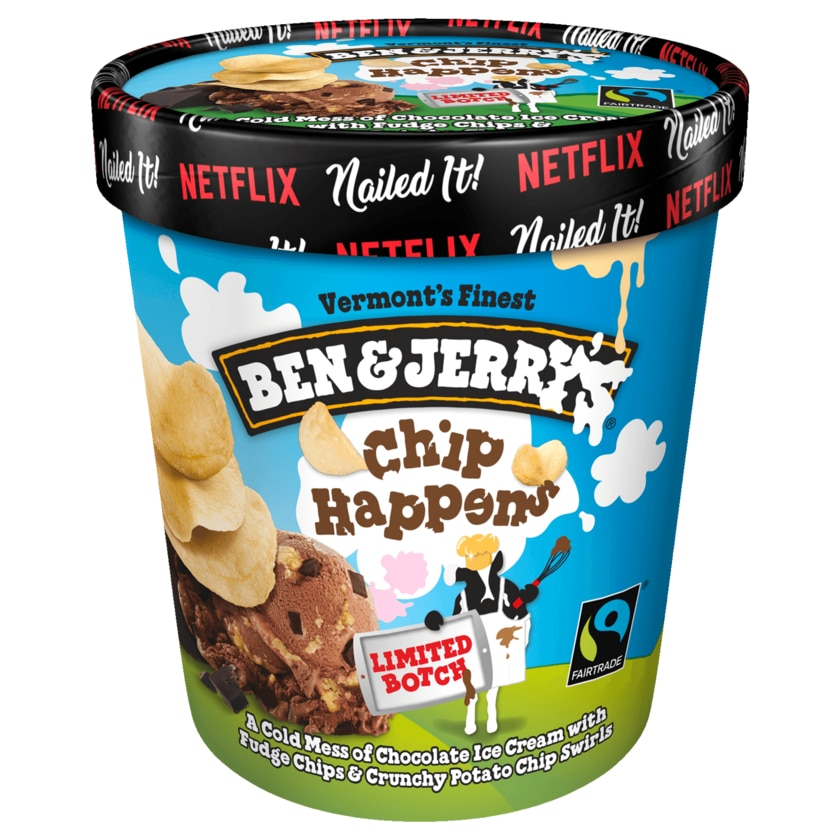 Ben & Jerry's Eis Chip Happens 465ml