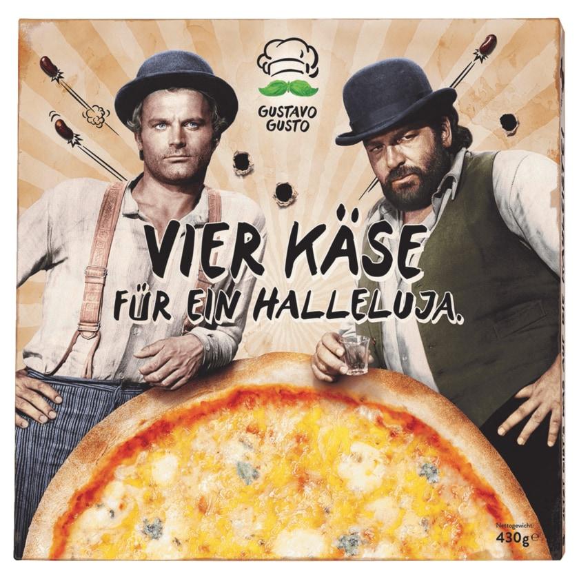 Gustavo Gusto Pizza Vier Käse für ein Halleluja 430g