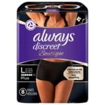 Always Discreet Boutique Inkontinenz Einlagen Pants Black L 8 Stück