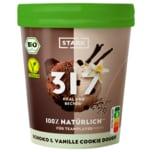 Stark Schoko & Vanille Cookie Dough Bio vegan 400ml