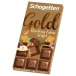 Schogetten Gold Haselnuss Kakao Waffel 100g