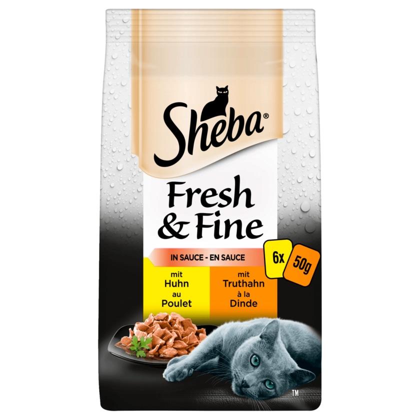 Sheba Fresh & Fine in Sauce mit Huhn & Truthahn 6x50g