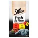 Sheba Fresh & Fine in Sauce mit Rind und Huhn 6x50g