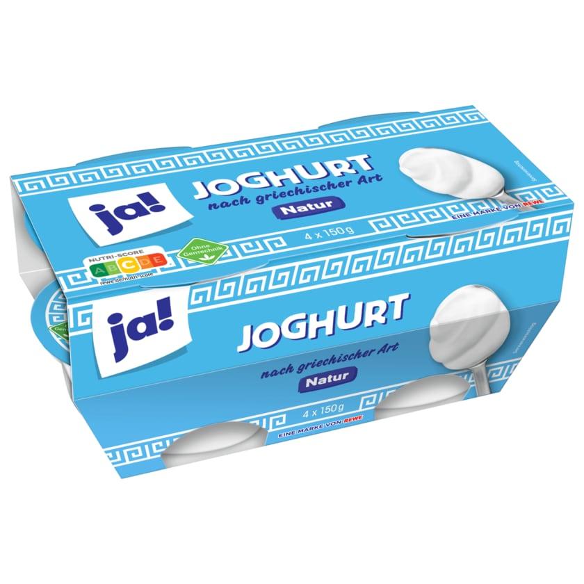 ja! Joghurt Griechischer Art Natur 4x150g