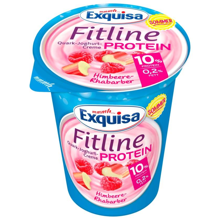 Exquisa Fitline Quark-Joghurt-Creme Protein Himbeere-Rhabarber 400g