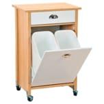 Kesper Küchenwagen inkl. Abfalleimer, Sonoma Eiche/weiß