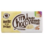 Mychoco Schokolade Weißer Karamell-Meersalz 180g