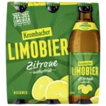 Krombacher Limobier Zitrone naturtrüb 6x0,5l