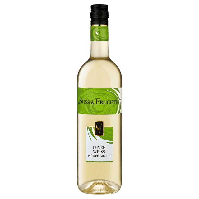 Württemberg Süß & Fruchtig Cuvée Weißwein QbA süß 0,75l