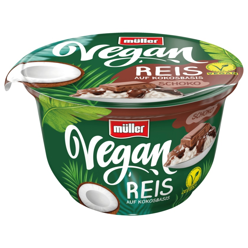 Müller Vegan Reis auf Kokosbasis Schoko 180g