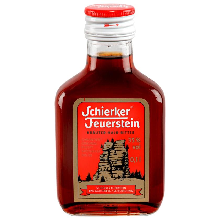 Schierker Feuerstein Kräuter-Halb-Bitter 0,1 l Flasche