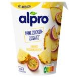 Alpro Soja-Joghurtalternative Ananas-Passionsfrucht ohne Zuckerzusatz 400g