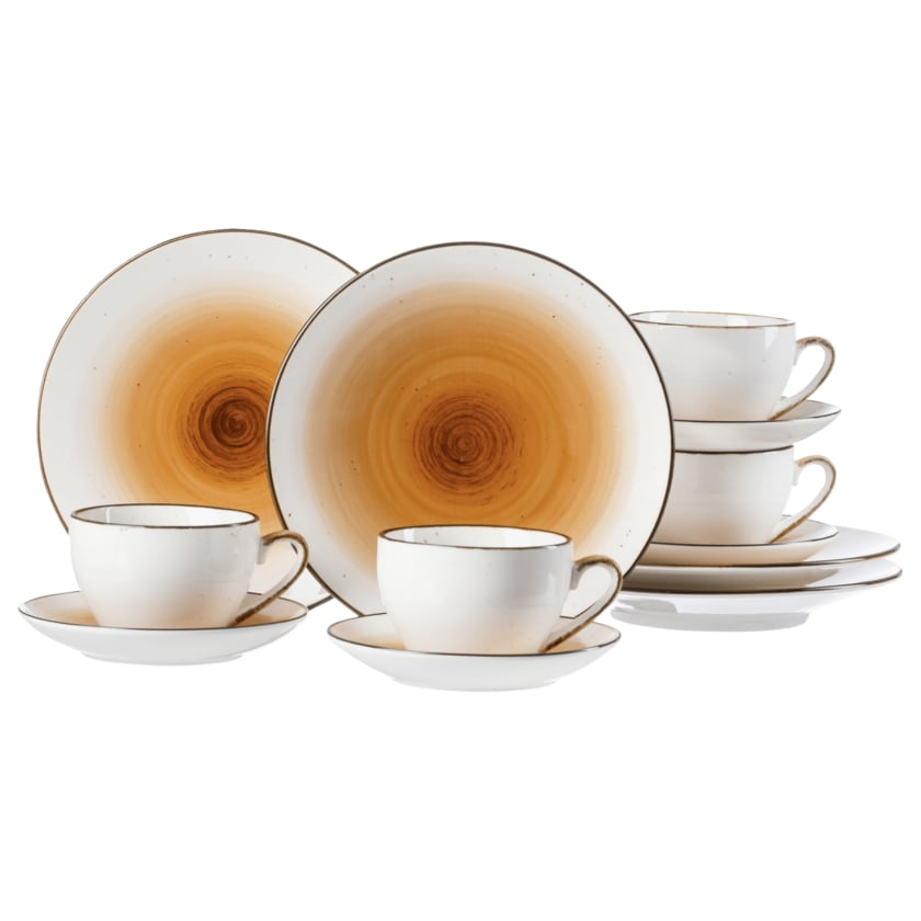 Ritzenhoff & Breker Kaffeeset Cosmo Orange 12-teilig für 4 Personen