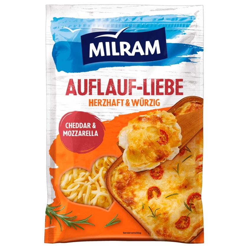 Milram AuflaufLiebe Cheddar & Mozzarella Reibekäse 150g