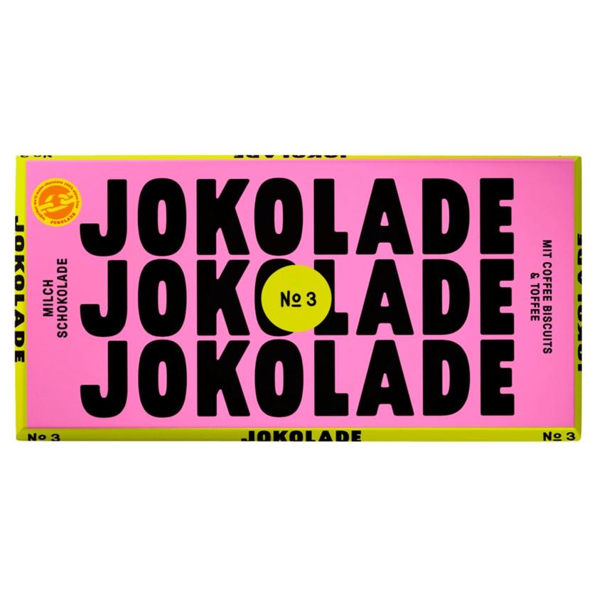 JOKOLADE No3 Milchschokolade Coffee Biscuits & Toffee 150g