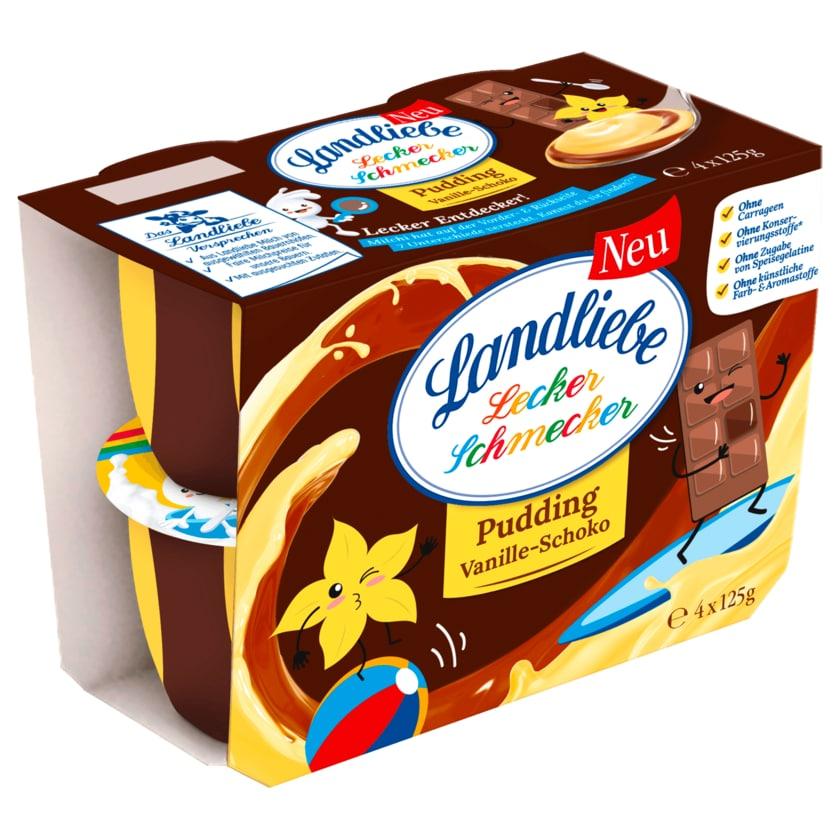 Landliebe Lecker Schmecker Pudding Vanille-Schoko 4x125g
