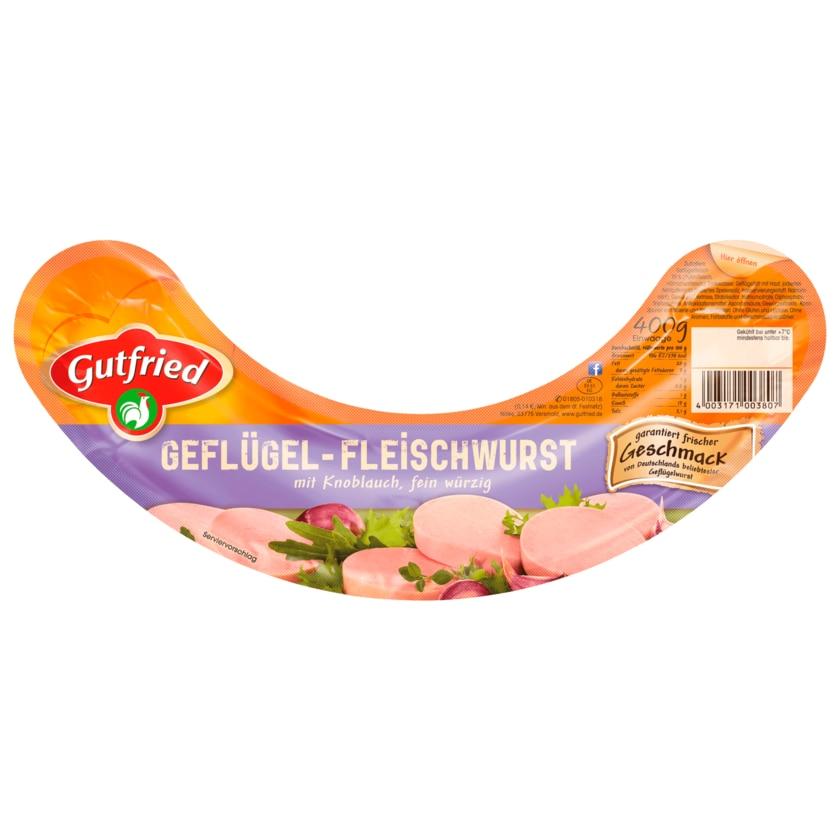 Gutfried Geflügel-Fleischwurst mit Knoblauch 400g