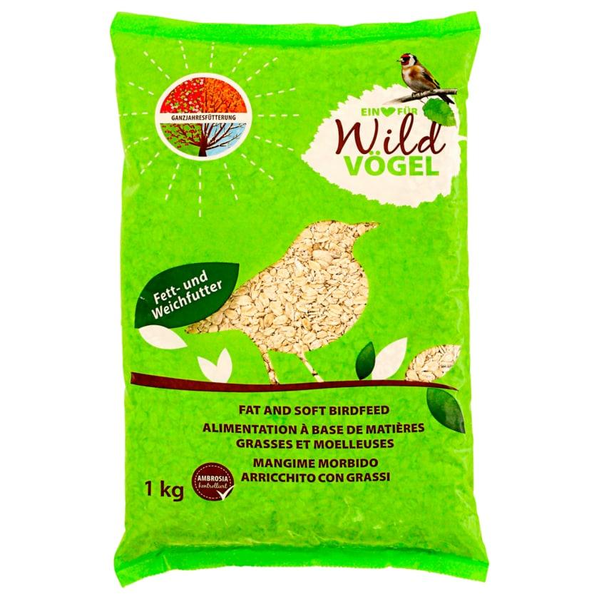 Degro Fett- und Weichfutter Wildvögel 1kg