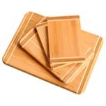 Kesper Schneidbrett-Set aus FSC®-zertifizierter Bambus 4-teilig