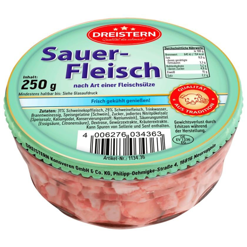 Dreistern Sauerfleisch nach Art einer Fleischsülze 250g