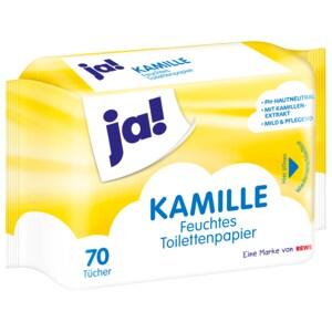 ja! Feuchtes Toilettenpapier Kamille 70 Stück