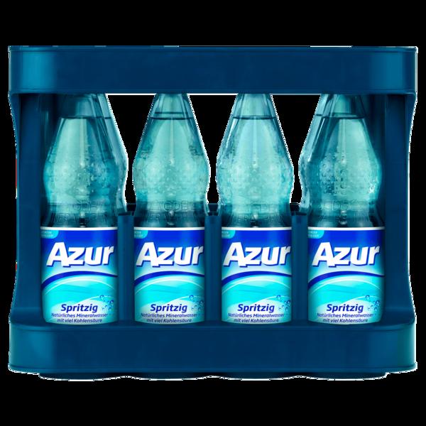 Azur Mineralwasser Spritzig 12x1l